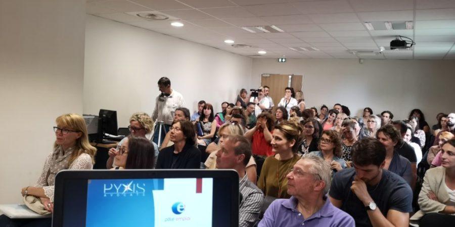 Intervention de Pyxis pour le Pôle Emploi à destination des candidats au recrutement sur l'E-Réputation