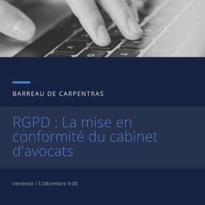 RGPD : La mise en conformité du cabinet d'avocats